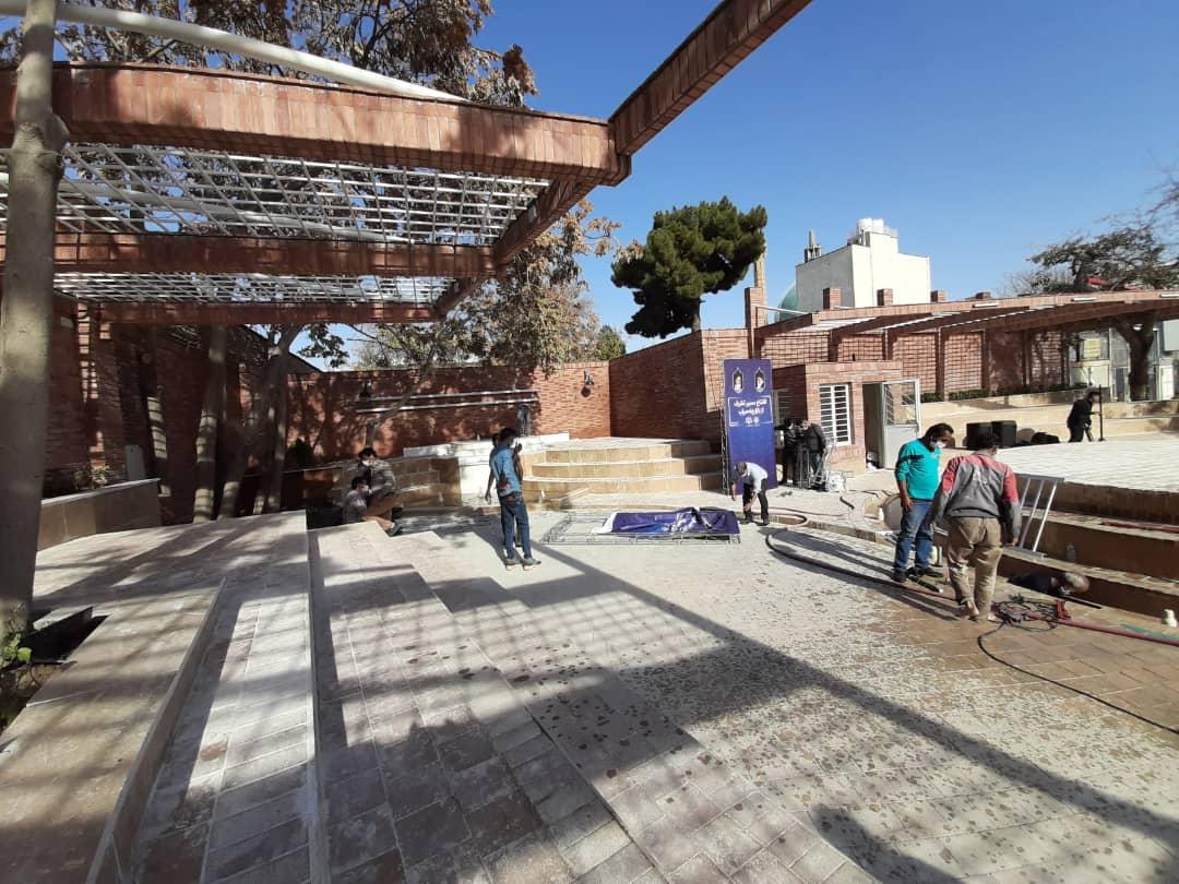 نظارت بر اجرای پروژه پیاده راه محور شاهین فر