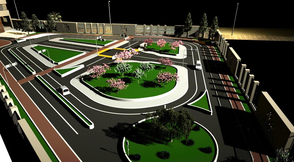 طراحی فاز ۲ پارک ترافیک الهیه