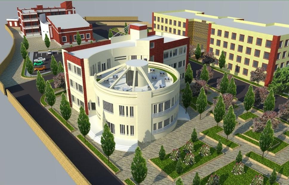 مطالعه و طراحی فاز یک و دو ساختمان اداری و سایت دانشکده فنی و حرفه ای شهید محمد منتظری