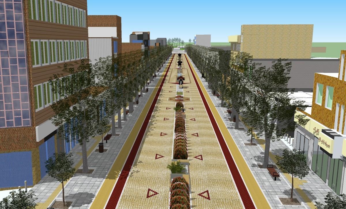 مطالعه و طراحی بهسازی خیابان مطهری (گل) تربت حیدریه