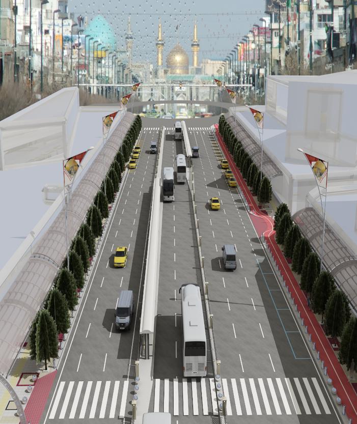 مطالعه طراحی و بهسازی محور خیابان امام رضا (ع)