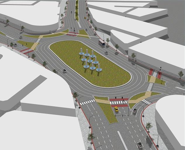 مطالعه و طراحی بهسازی تقاطع ولیعصر (خواف) و چهار خیابان منتهی به آن در شهر تربت حیدریه
